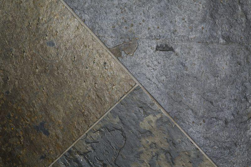 Rustic grey slate swatch