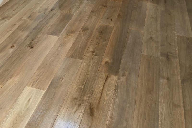 Peat colour plank floor shot