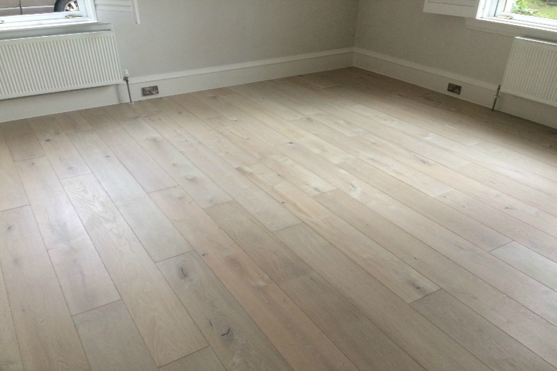 White chocolate coloured plank in an empty room setting