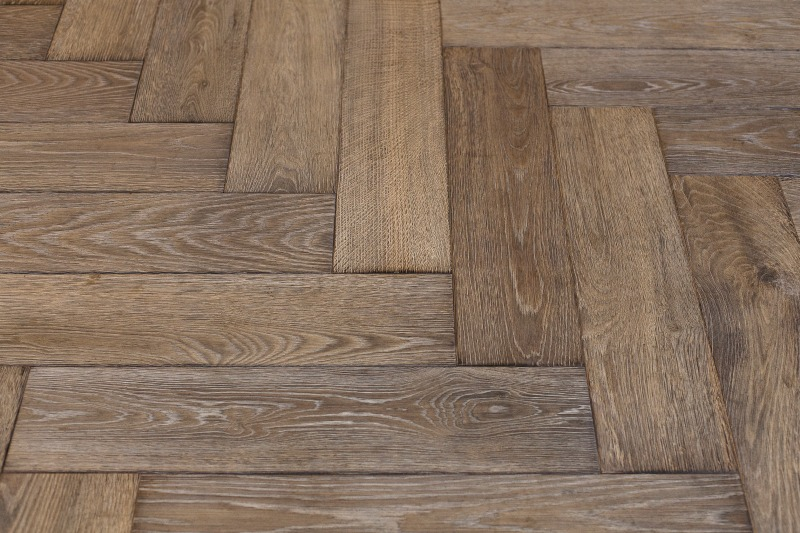 White rustic oak flooring