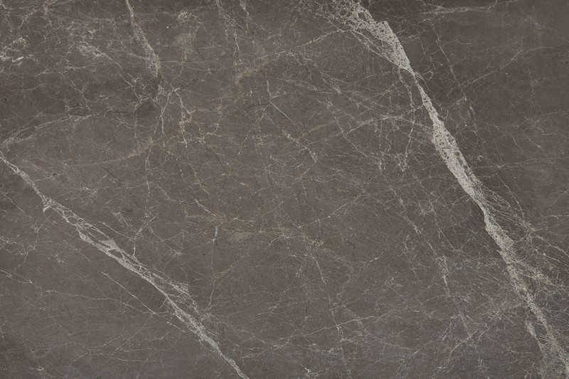 Polished grey veined marble swatch