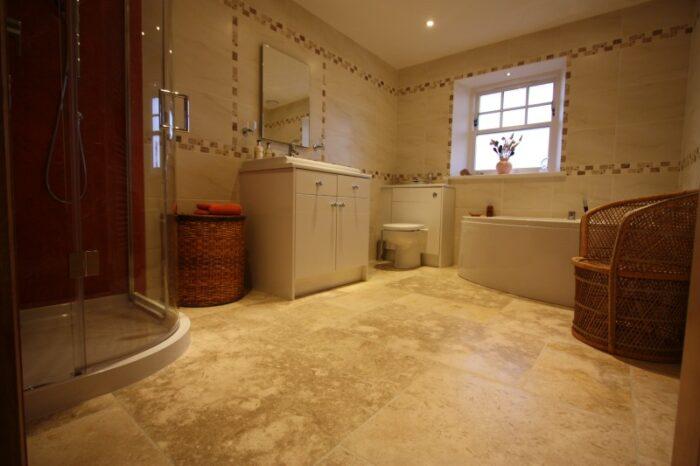 jerusalem fossil limestone in bathroom