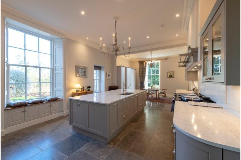 grey limestone in a kitchen