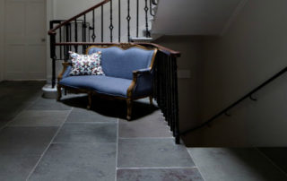 Dark Grey Limestone in a hall setting