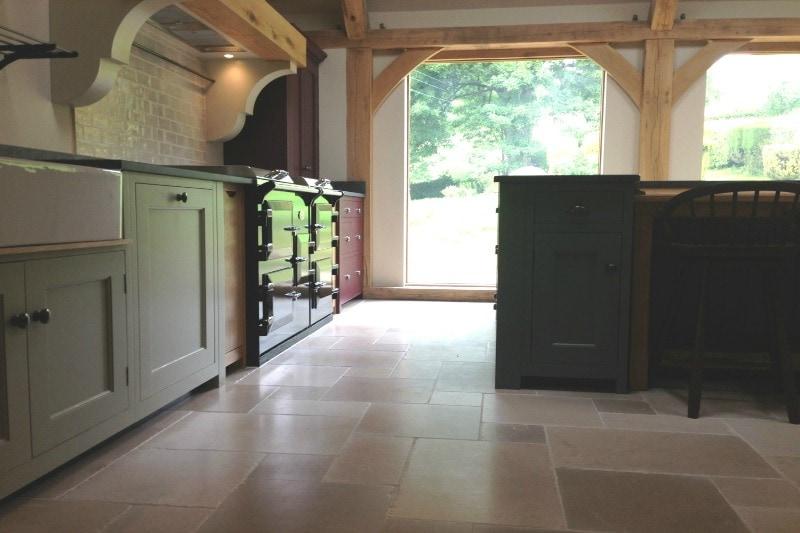 Italian cream limestone in a kitchen
