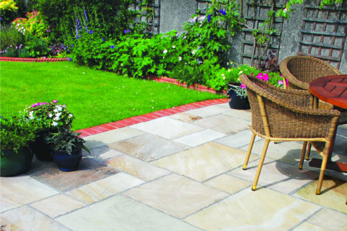 Mint Sandstone external paving