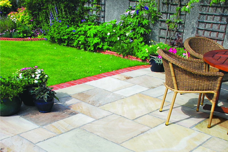 Mint Sandstone external paving
