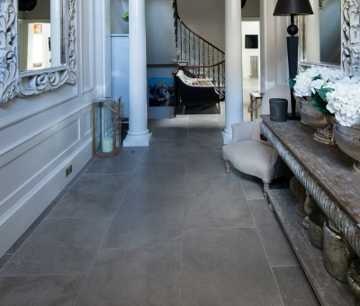 stone flooring in town house
