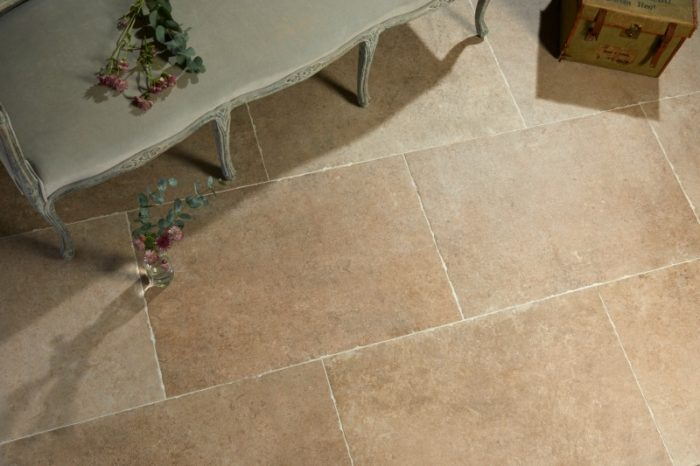Beige tile in outdoor setting