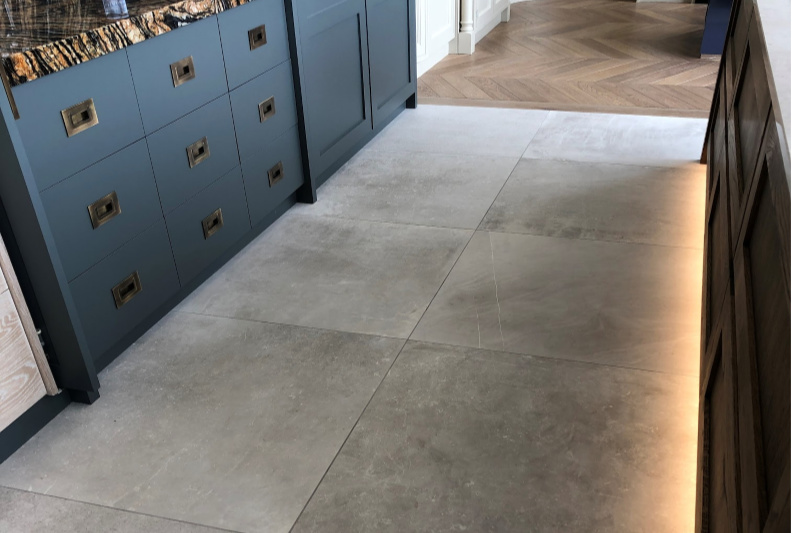 Light Grey tile in a kitchen setting