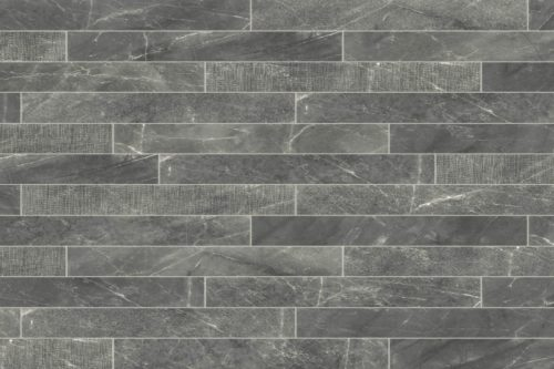 Veined Grey brick shaped porcelain tiles