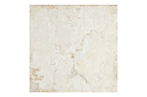 Aged white base decorative tile