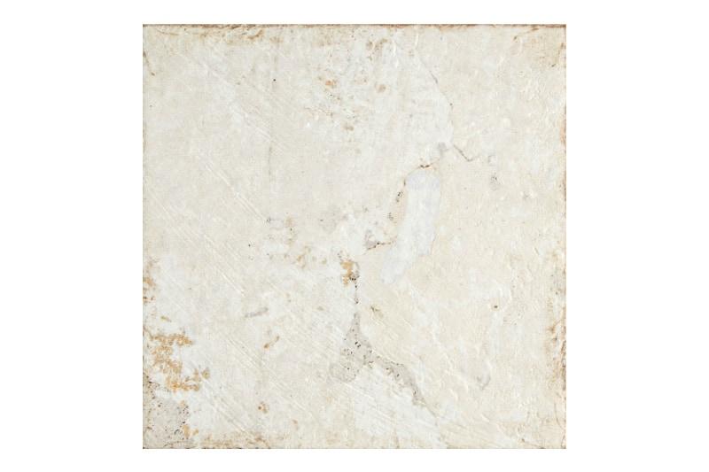Aged white base decorative tile