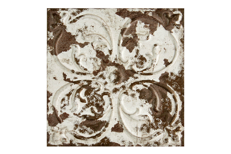 Aged bronzed decorative tile