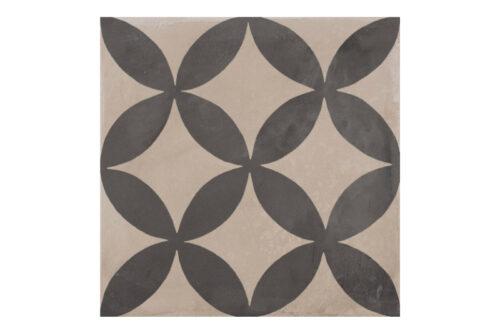 Patterned tile labelled 1