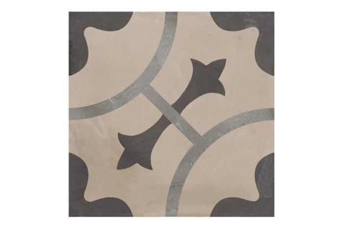 Patterned tile labelled 10