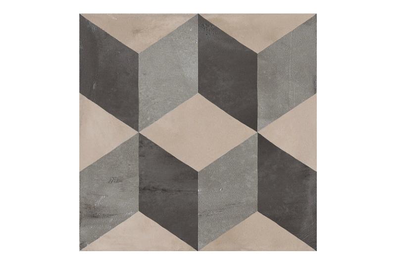 Patterned tile labelled 4
