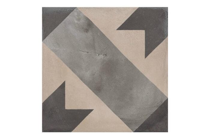 Patterned tile labelled 6