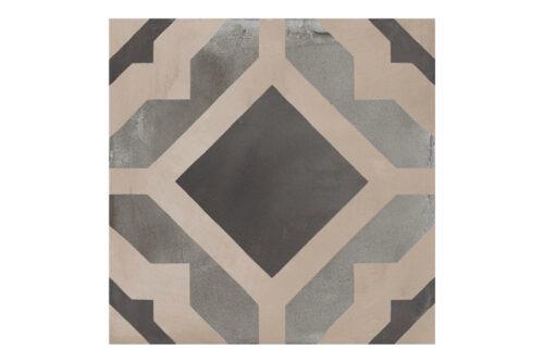 Patterned tile labelled 8