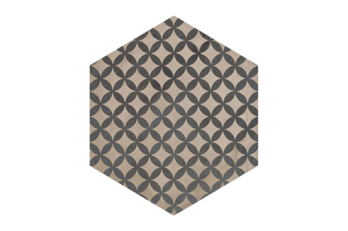 Hexagon Patterned tile labelled 1