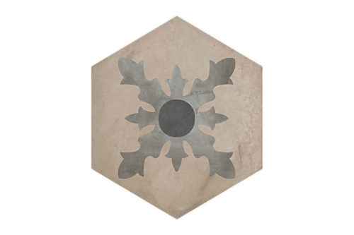 Hexagon Patterned tile labelled 2