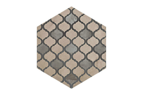 Hexagon Patterned tile labelled 3