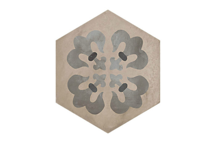 Hexagon Patterned tile labelled 5