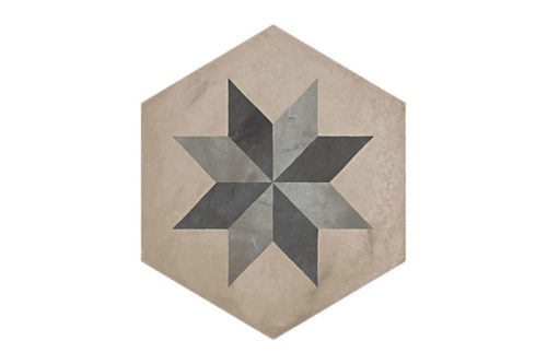 Hexagon Patterned tile labelled 6