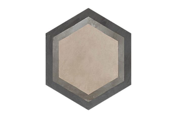 Hexagon Patterned tile labelled 7