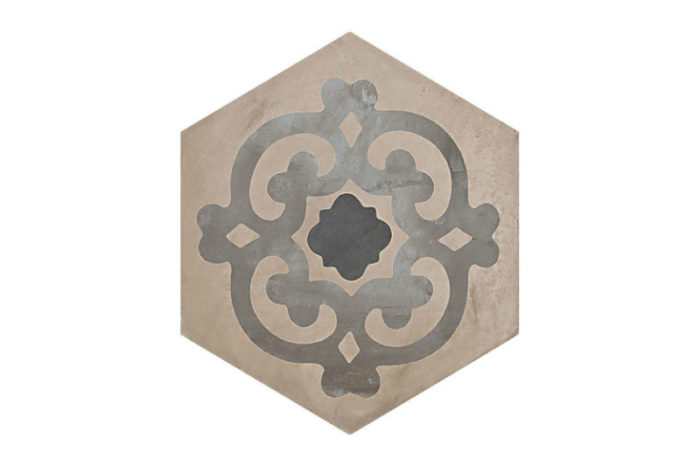 Hexagon Patterned tile labelled 8