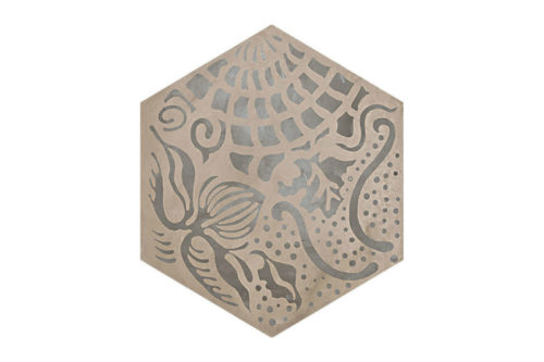 Hexagon Patterned tile labelled 9