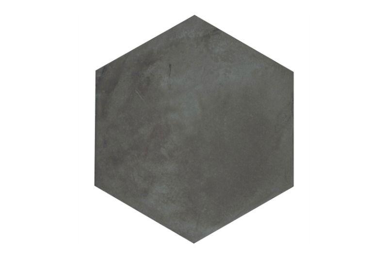 Hexagon black base tile