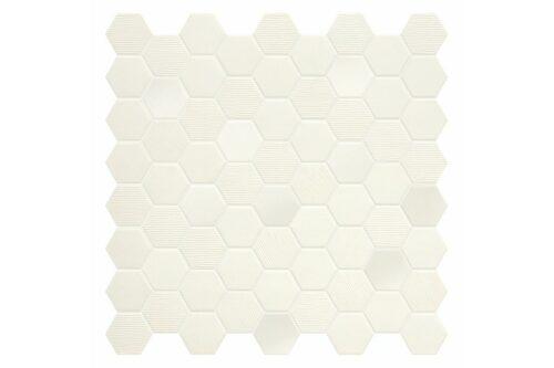 Cotton coloured hexagon mosaic swatch