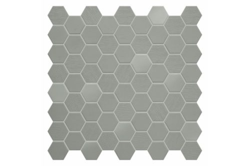 Sage coloured hexagon mosaic swatch