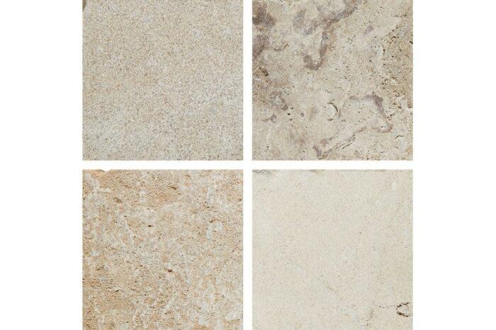 Small cream aged limestone swatch