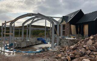 building in Scottish highlands