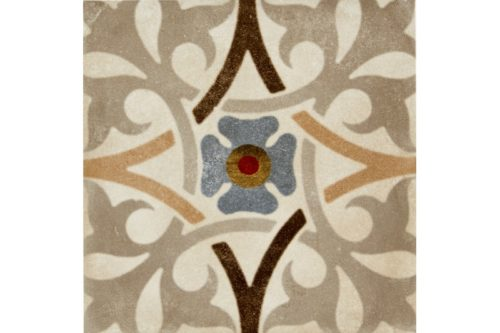 Mixed colour decorative tile