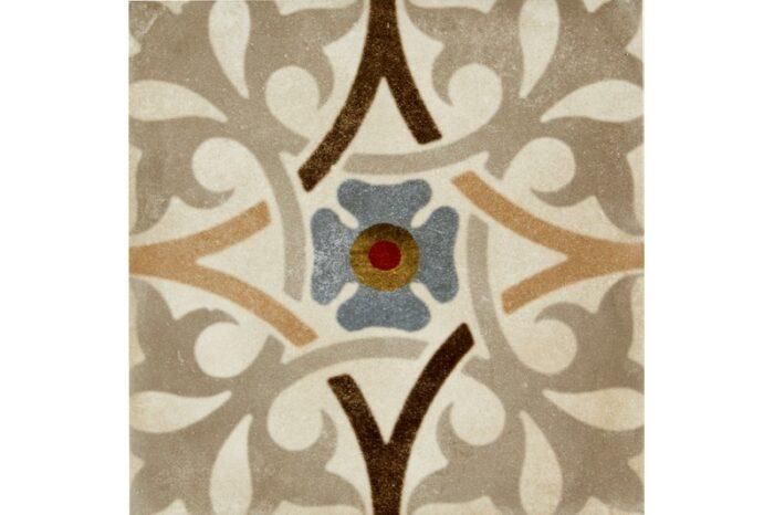 Mixed colour decorative tile