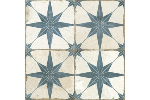 Blue etched tile swatch