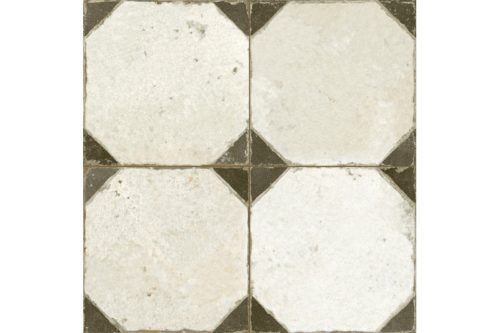 Black and white octagon tile swatch
