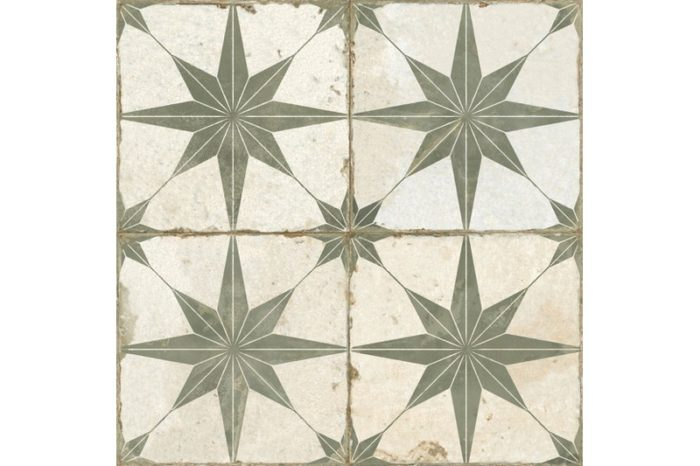 Sage etched tile swatch
