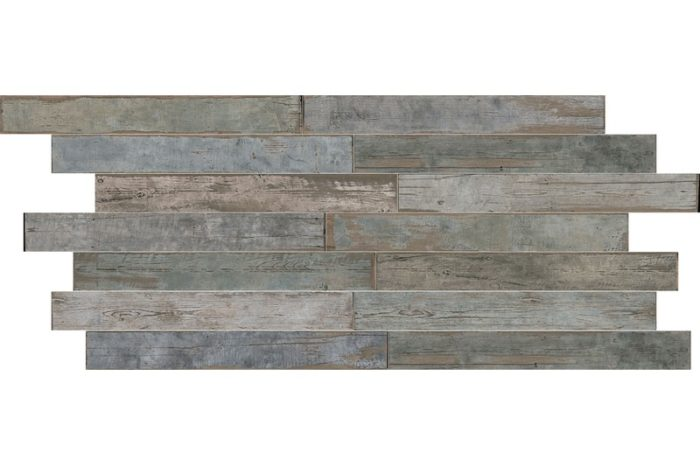 Blue Distressed wood effect porcelain swatch