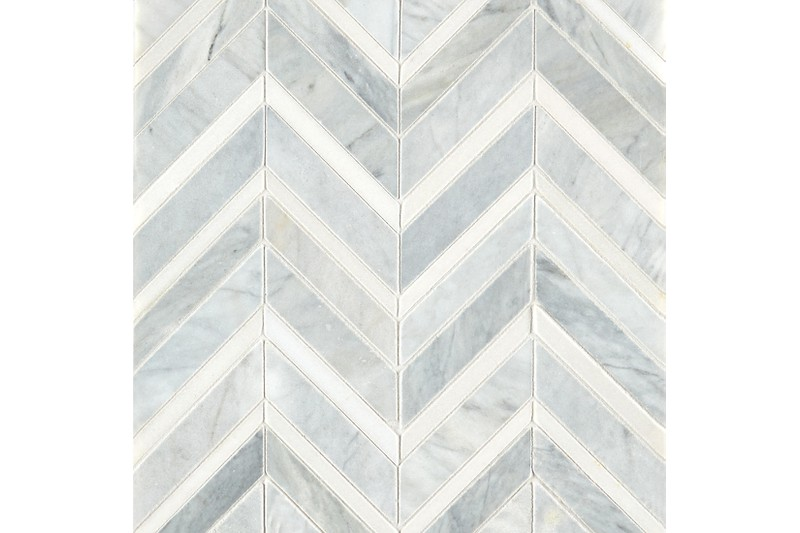 Honed Polished Chevron Mosaic swatch