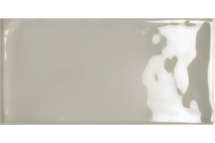 Rectangle light grey gloss tile