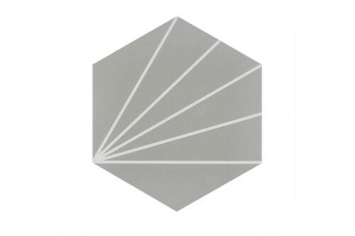 Grey pod style porcelain tile