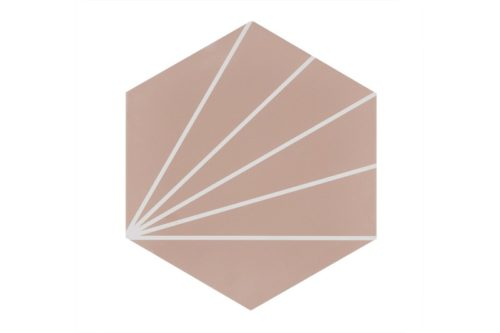 Pink pod style porcelain tile