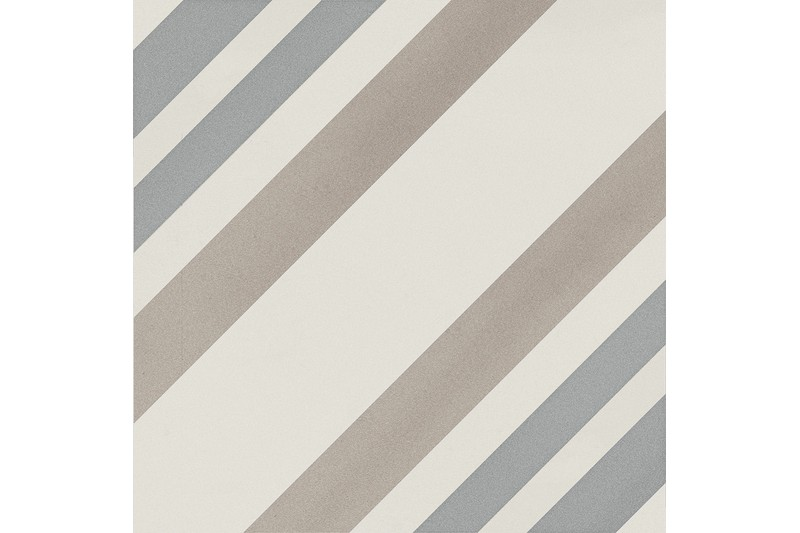 Blue, tan and white striped tile swatch