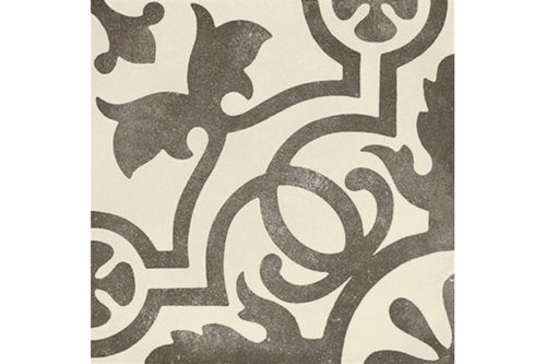 Black and white patterned tile swatch