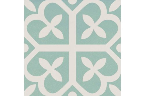 Green and white decor tile swatch