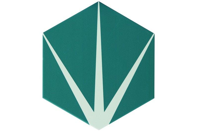 Star emerald hexagon tile swatch